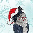 Christmas wolf by ChrisNeal