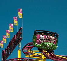 Crazy Mouse Riders Green by Gary Chapple