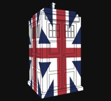 Tardis in UK flag 3D by bomdesignz