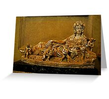 Personification of Autumn, Sarcophagus Greeting Card