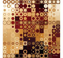 Circles and Squares 10. Modern Geometric Art Photographic Print