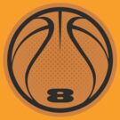 Basketball Graphic Design – Orange Number by cpotter