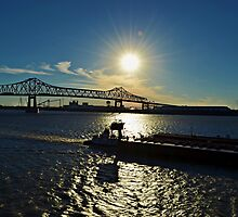 Mississippi River, Baton Rouge, Louisiana by Scott Mitchell