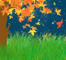 Autumn Moon Sticker