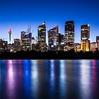 Sydney City Lights by Liz Percival