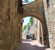 Streetscape, San Gimignano by Helen Greenwood
