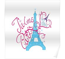 T'aime Paris Love Paris Poster