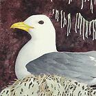 The Black-Legged Kittiwake by aquartistic
