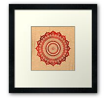 omulyana red mandala Framed Print