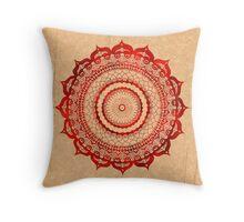 omulyana red mandala Throw Pillow