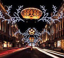 Christmas Day. Regent Street. by Irina Chuckowree