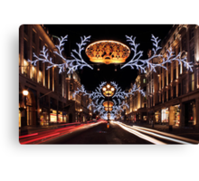 Christmas Day. Regent Street. Canvas Print