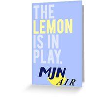 The Travelling Lemon Greeting Card