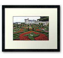 Chateau Villandry Gardens Framed Print