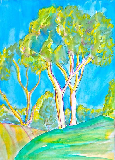 East Bluff Eucalyptus by Christine Chase Cooper