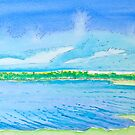 Clouds Rising over Bolsa Chica by Christine Chase Cooper