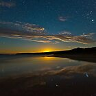 Parsons Beach Moonset by pablosvista2