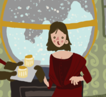 Snowglobes and Souffle Girl Sticker