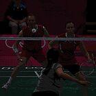 Popart Badminton by Matt Eagles