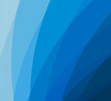 Blue abstract gradient transparent curves by mikath