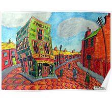 373 - JONES'S SHOP, RHOSLLANERCHRUGOG - DAVE EDWARDS - COLOURED PENCILS - 2012 Poster