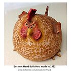 Mad Hen ceramic sculpture by  Cindy Schnackel