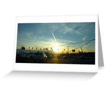 Rush Hour into a Winters Sunset Greeting Card