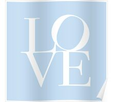 Love in Baby Blue Poster