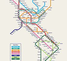Americas Metro Map by ArtPrints