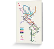 Americas Metro Map Greeting Card