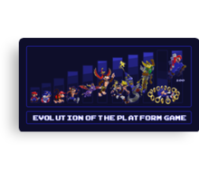 Evolution of the Platform Game Canvas Print