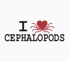 I Heart Cephalopods - Dark On Light by erindizmo