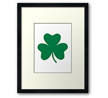 Irish shamrock Framed Print