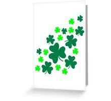 Green shamrocks Greeting Card