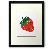Red strawberry Framed Print