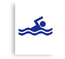 Swimming swimmer Canvas Print