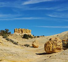 Beautiful rock boulder in a canyon by Claudio Del Luongo