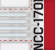 Star Trek - NCC-1701 Hull iPad Case by Jon Kolton