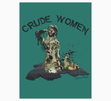 Crude Women Sticker (Teal) by DILLIGAF