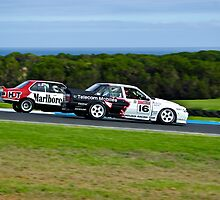 Chiomi Gendre - Holden Torana A9X - Group G and Gary Collins - 1990 Holden VL Commodore Group A SS SV by Steven Weeks