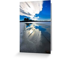 sky reflection Greeting Card