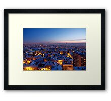 Baby It's Cold Outside - Belgrade Covered with Snow Framed Print