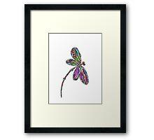 Dragonfly  Neon  Framed Print