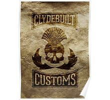 Clydebuilt Customs (black) Poster