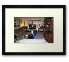 Jeremy has been eating his TV dinners right from the freezer but has decided to quit cold turkey. Framed Print
