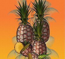 Pineapples .. iphone case by LoneAngel