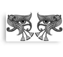 Eye of Horus - Dual / Mirrored Canvas Print