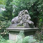 Highgate cemetery - lion memorial by Karen Hood