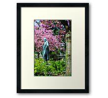A Spring view on Mr. Bunsen Framed Print