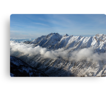 Mountains from summit of Snowbird ski resort in Utah Metal Print